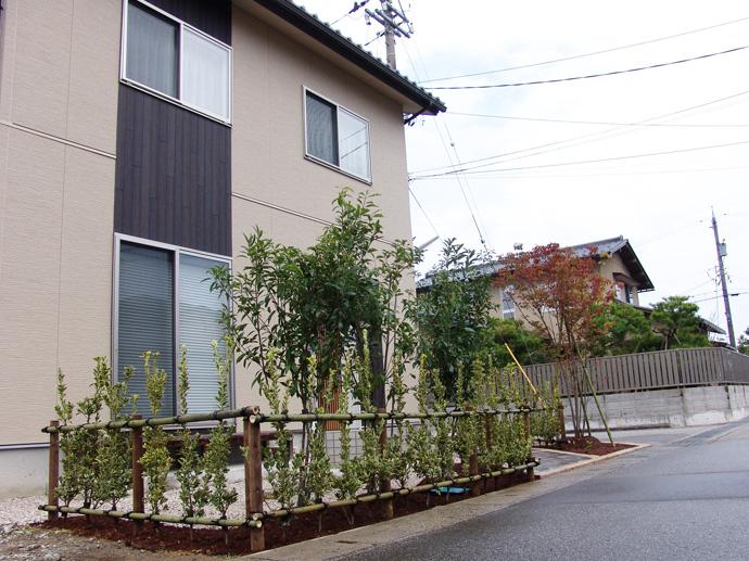 富山市K様の待望のファサードガーデン創庭
